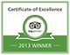 Excellence-Badge 2013 en-62px